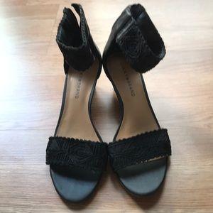 Lucky Brand zipper back sandals